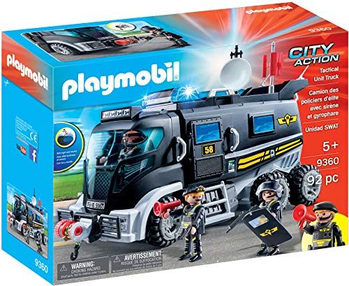 Playmobil 9360 City Action SWAT Truck with Working Lights and Sound