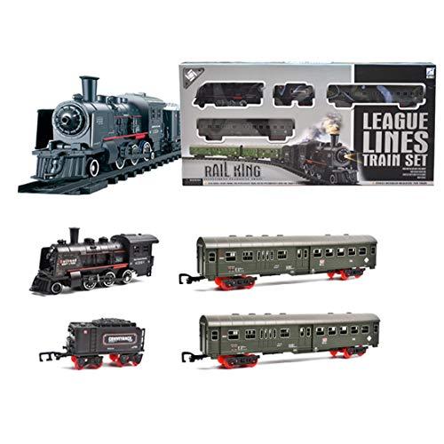 AMITAS Modelleisenbahn Lokomotive H0 Eisenbahnset Elektrisch Dampflokomotive Geeignet für Kinder ab 3 Jahren