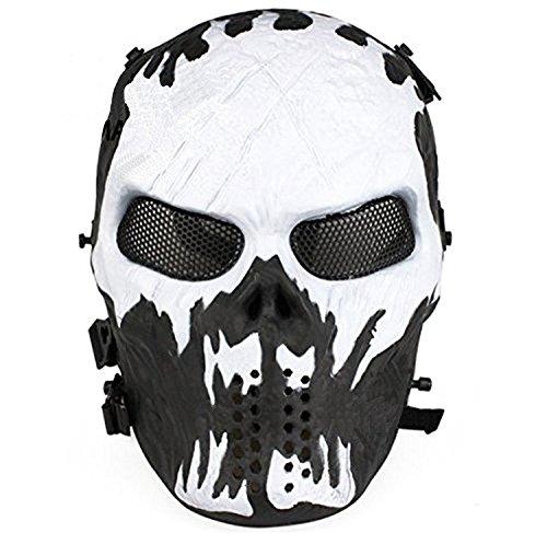 ror Requisiten Skelett Reiten ein Vollmaske Atemschutzmasken Halloween Karneval (Vollmaske, C) (Halloween Skelett Requisiten)