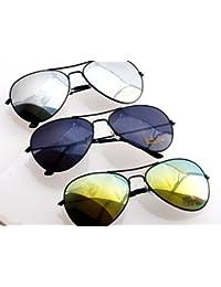 NERD® Pilotenbrille Die 3 Schwarzen!! Silver + Black + Green