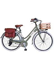 Via Veneto By Canellini Bicicleta Bici Citybike CTB Mujer Vintage Retro Via Veneto Aluminio Verde con Cajita