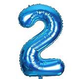 SMARCY Ballons pour la Décoration d'anniversaire 2 Ans Grand Chiffre 2