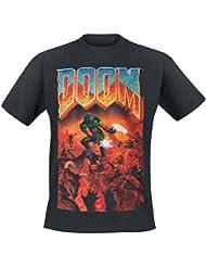DOOM T-Shirt -XL- Box Art, schwarz [import allemand]