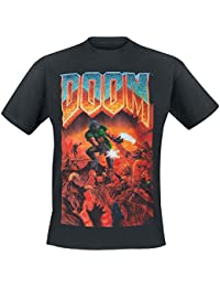 DOOM T-Shirt -XL- Box Art, schwarz [import allemand]