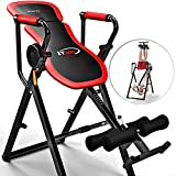 Sportstech Table d'Inversion Multifonctions IT300 Musculation Traction 6-en-1, Muscles dorsaux, Barre de Traction, Repliable, Montage Simple, Banc de Musculation 0° - 90° Levier Intelligent...