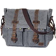 e2aa6ce52 Lifewit Vintage Bolso de Hombre Bolsa de Mensajero Maletines Bolso de  Bandolera Maletín para Ordenador portátil