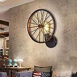LEI ZE JUN UK- Retro Wandleuchte American Creative Persönlichkeit Wand Lampe Loft Industrial Style Bar Coffee Shop Wohnzimmer Restaurant Eisen Kunst Wand Lampe E27 E14 Wandlampe ( Farbe : A )