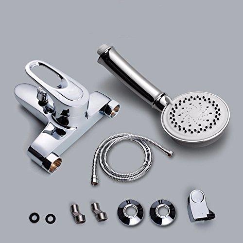 56 Bidet Set (XX Badewanne mixer Cu alle heiße und kalte Dusche mixer Badezimmer Dusche Badewanne Mischen von heißem und kaltem Wasser,5 kräftige Schauer Dokument)