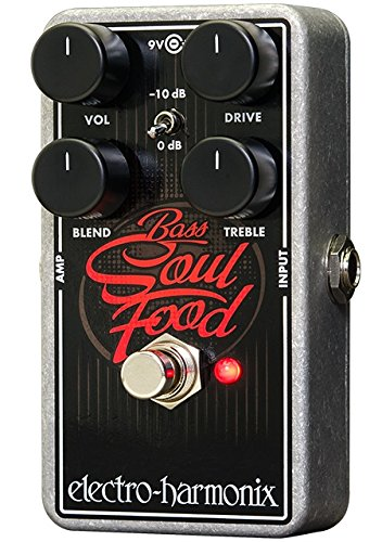 BASS SOUL FOOD TRANSPARENT OVERDRIVE GUITAR PEDAL