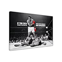 CANVAS PRINTS WALL ART PICTURES LEGENDS ICONIC MUHAMMAD ALI KNOCKOUT KO DREAM QUOTE PRINT PICTURE ROOM DECORATION HOME WALL NOSTALGIA BOXING CHAMPIONS