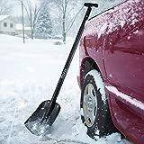 COFIT 110cm Pala da Neve Retrattile in Lega di Alluminio per Auto Campeggio All'aperto e Giardino Costruzione a Quattro Pezzi