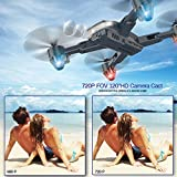 Kuorle Foldable Drone with Camera, WiFi FPV Quadcopter with 720P Wide Angle HD Camera Live Video Mobile APP Control RC Helicopter Ideal Gift for Kids-Altitude Hold,One Key Start,Bonus Battery