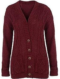 Women Open Front Knit Long Sleeve Cardigan Pockets Checker Board Cape Duster Top