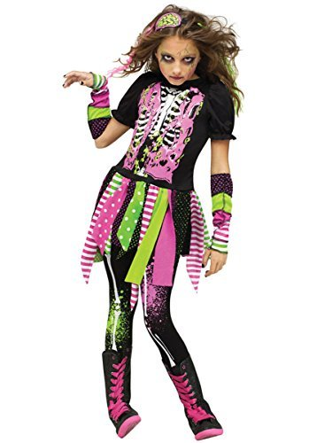 ück Neon Zombie Halloween Kostüm Kleid Outfit 4 bis 10 Jahre - Multi, 6-8 years (Neon Zombie Kind Kostüme)