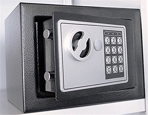 S + S Minisafe electrónica Caja fuerte mini caja...