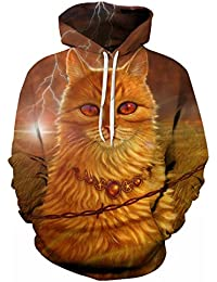 4e627d757cb763 XNRHH Xmas Men and Women Lovers Loose Large Size Street Style HD Pattern  Hooded Sweater Hoodies
