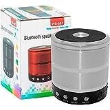 XRIS WS-887 Mini Bluetooth Speaker With FM Radio, Memory Card Slot, USB Pen Drive Slot, AUX Input Mode (Silver)