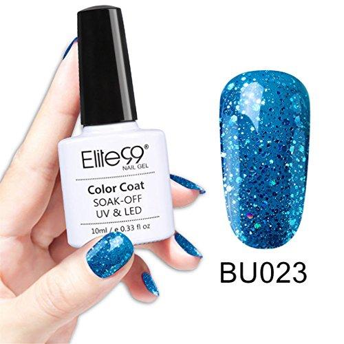 Elite99Azúl Magico Gel-UV-/LED-Nagellack, halbpermanentes Soak-Off-Gel, Top-Coat / Base-Coat, 10ml 023