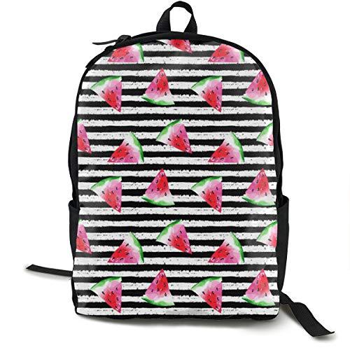 Summer Watermelon Adult Premium Travel Backpack, Water-Resistant College School Bookbag, Sport Daypack, Outdoor Rucksack, Laptop Bag for Men&Women -