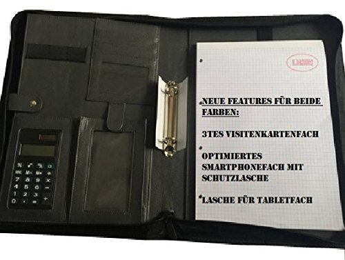 Schreibmappe A4  Block  Notizmappe  Notizblock  Inklusive Taschenrechner NEU !