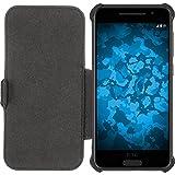 PhoneNatic Echt-Lederhülle für HTC One A9 Leder-Case schwarz Tasche One A9 Hülle + Glasfolie - 2