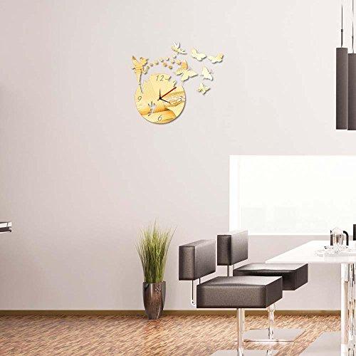 KHSKX DIY Aufkleber Uhr Wandspiegel, Wohnzimmer Wanduhren, personalisierte Uhren, Spiegel Wandsticker Wand Uhren, Geschenke, Haus, Wohnzimmer, Schlafzimmer , (Verdorben Kostüm)