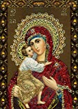 Diy Guardian Angel Orthodox Icons 5D Diamond Embroidery Religions Diamond Painting Mosaic Religious Crystal Craft 25X35 Cm