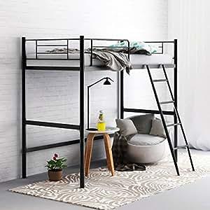 Camabeds Stooreys Single Size Metal Bed (Glossy Finish, Black)