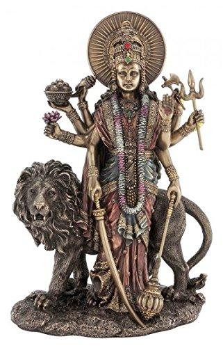 Figur Indische Göttin der Vollkommenheit Durga Hinduismus Indien Skulptur