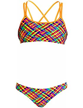 Funkita Chica Bikini Basket Case Two Piece, niña, multicolor, 140