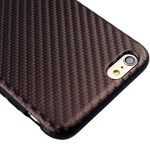 Phone case & Hülle Für iPhone 6 Plus / 6S Plus, Carbon Fiber Texture TPU Fall ( Color : Pink ) Brown