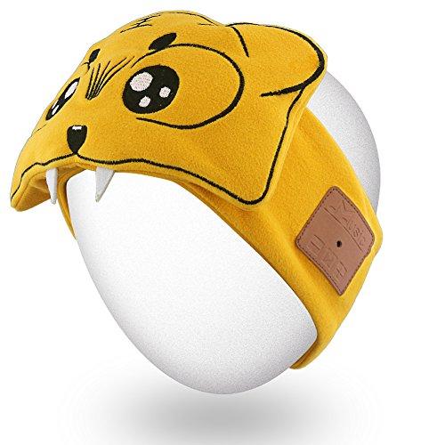Rotibox Leichter Schweiß-Bluetooth-Stirnband-Kopfhörer, Freisprecheinrichtung, mit Stereo-Lautsprecher und Mikrofon-Freisprechanlage für Gym, Übung, Fitness, Sport, Laufen (Stirnbänder übung)