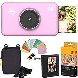 Kodak Mini Shot Instant Kamera (Rosa) Luxus-Paket + Papier (20 Blatt) + Luxus-Etui + Fotoalbum + Bilderrahmen Zum Aufhängen