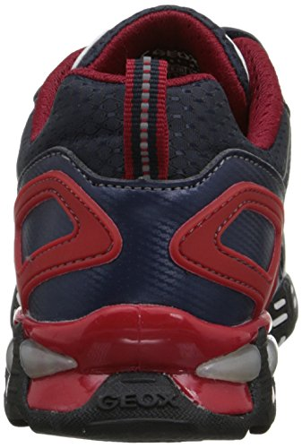 Geox JR LIGHT ECLIPSE B Jungen Sneakers Blau (C0735NAVY/RED)