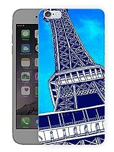 "Humor Gang Paris Eiffel Tower Caricature Printed Designer Mobile Back Cover For ""Apple Iphone 6 PLUS - 6S PLUS"" (3D, Matte Finish, Premium Quality, Protective Snap On Slim Hard Phone Case, Multi Color)"