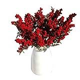 Künstliche Früchte Blume, tianranrt 5Blumenstrauß Künstliche Blumen verheißungsvollen Weihnachten Fruits Rich Fruit Home Decor Pflanze Beeren rot