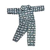 MagiDeal Cute Vehicle Printed Pajamas PJS Sleepwear Clothes for 18 inch American Girl Logan Boy Doll Dark Green