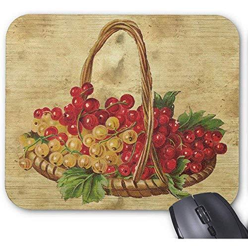 Weinlese-Korb der Trauben Mousepad Mausunterlage 30X25CM
