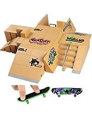 Creation® 13PCS Skatepark kit de piezas de rampa para la Tecnología de Cubierta del monopatín Finger Ultimate Deporte Entrenar Puntales