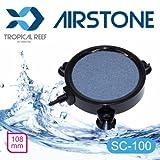tropical-reef SC100Koi laghetto o acquario 100mm 10,2cm ceramica rotondo disco diffusore airstone Air pietra con 3free montaggio ventose