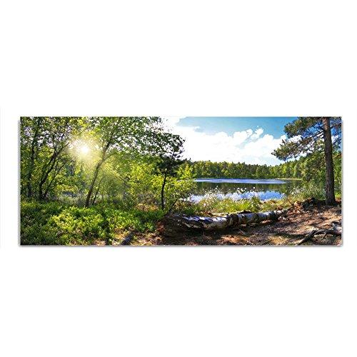 DekoGlas Glasbild \'Wald See\' Acrylglas Bild Küche, Wandbild Flur Bilder Wohnzimmer Wanddeko, einteilig 125x50 cm