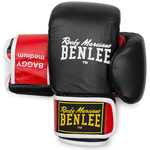 BENLEE Rocky Marciano Unisex - Erwachsene Baggy Leather Bag Mitts, Black/Red, L