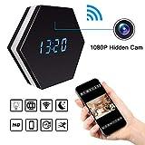 TONGTONG Mini Telecamera 1080P Wi-Fi HD Intelligente LED Clock Specchio con Visione Notturna a Due Vie Audio Motion Detection colorato
