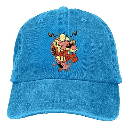 Hoswee Unisex Kappe/Baseballkappe, Funny Dog Denim Hat Adjustable Women Surf Baseball Cap
