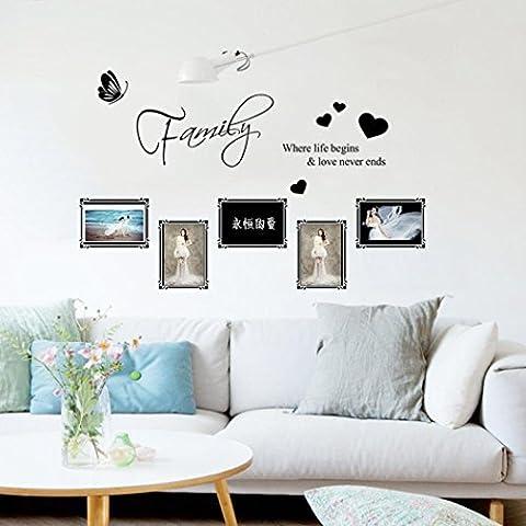 Oyedens Sweet inglese intagliato cornici del soggiorno camera da letto adesivi da parete - Inglese Tile