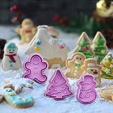 TAIPPAN Plätzchenformen, Weihnachten 3D Ausstecher Form 4 Stücke Prägeformen für DIY Fondant Kuchen Keks Schokolade Backenwerkzeuge