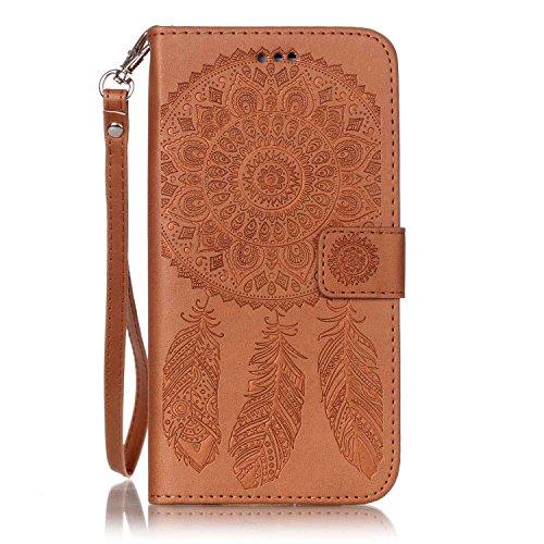 iPhone 7 Plus 5.5 Pouce Coque Etui PU Leather Case Wallet Cover Flip Coque pour iPhone 7 Plus,Coque pour iPhone 7 Plus Portefeuille Cuir Housse,EMAXELERS iPhone 7 Plus Coque Cristal,iPhone 7 Plus Coqu Campanula 6