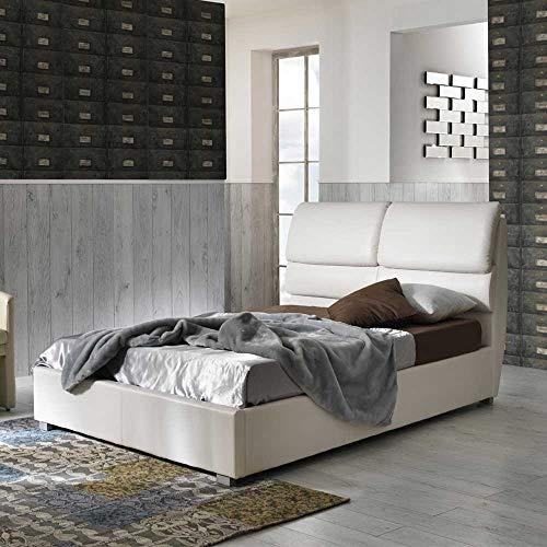 Pharao24 Jugendzimmer Polsterbett mit Bettkasten Weiß Breite 130 cm Liegefläche 120x200