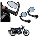 #3: AutoSun Bar End Mirror Rear View Mirror Oval For Royal Enfield Classic 350