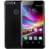 """AMH-V8 6 """"Freigesetzte 3G G / M Wcdma-Viererkabel-Kern Android 6.0 Handy-Doppel-SIM Karten-Smartphone, 8GB mit 2400mAh Batterie, 2MP vordere Kamera + 2MP hintere Kamera (Schwarz)"""